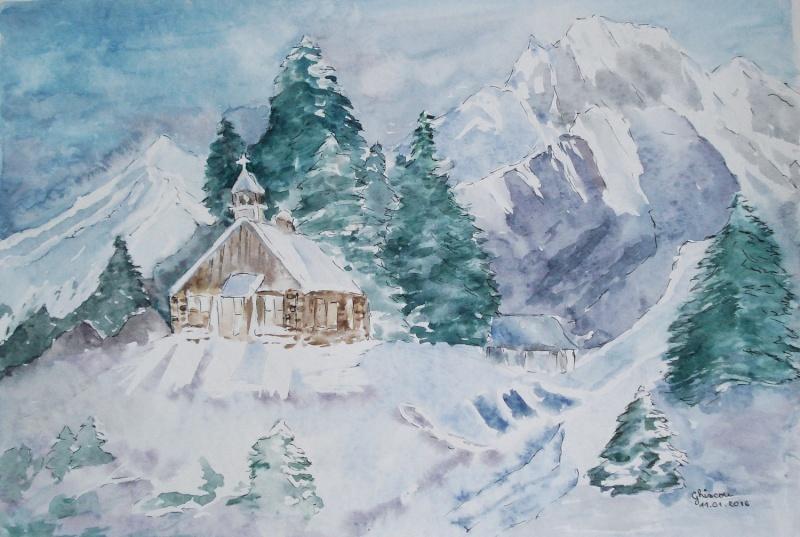 Paysage de montagne(aquarelle) Dsc03917