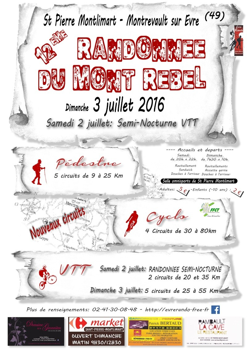 Mont Rebel 2016: (Le 2/3 juillet) Nouveautés... Affich10