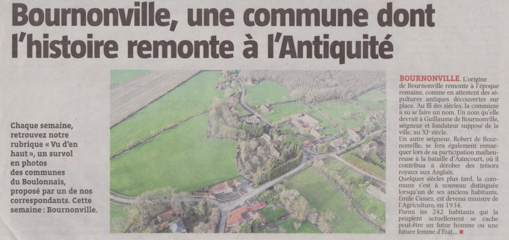 [Bournonville-canton de Desvres] Une commune dont l'histoire remonte à l'Antiquité  01311