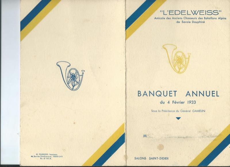 Banquet de l'EDELWEISS en 1933 L_edel10