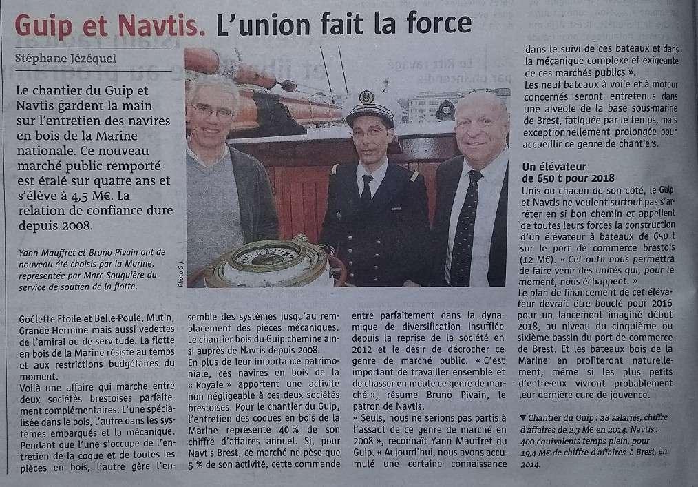 [ Marine à voile ] Contrat d'entretien avec les voiliers(entre autres) de la Marine Nationale Guip10