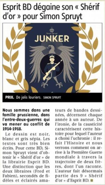 Sheriff d'or 2015 : Junker de Simon Spruyt Captur30