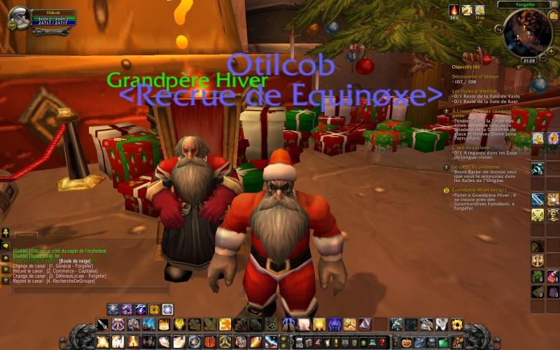 Le père Noël est présent en cette période du voile d'hiver 210
