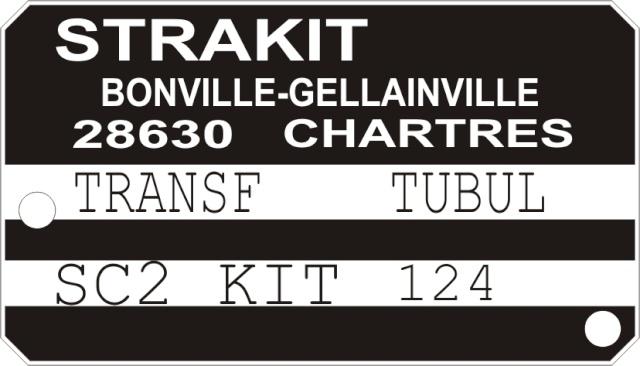 plaque constructeur Strakit sc2 Plaque10