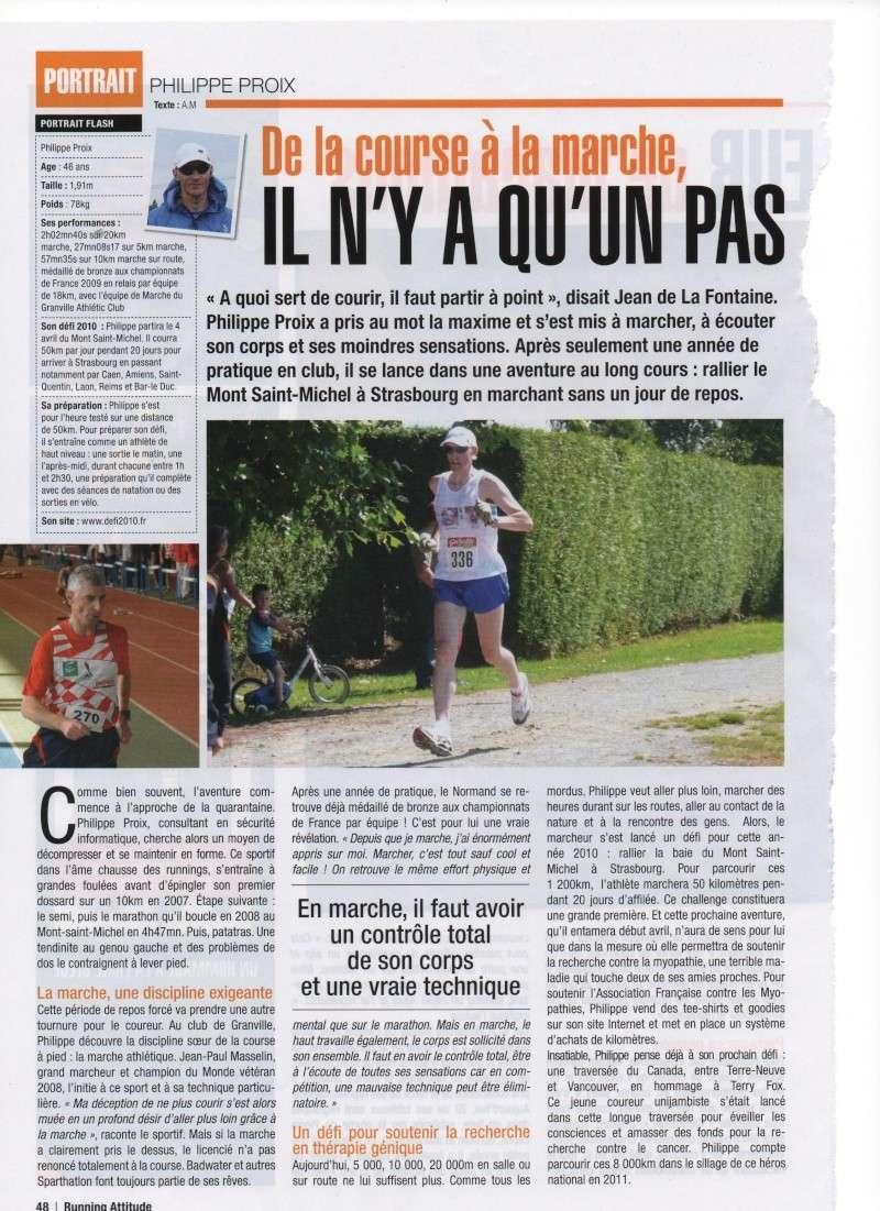 article sur un  marcheur dans running attitude 00310