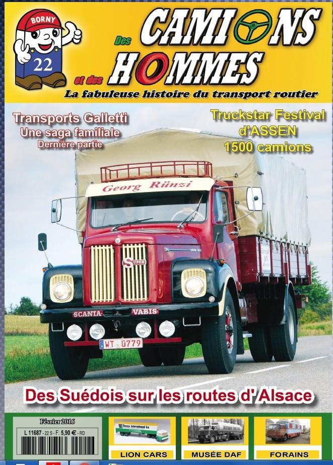 Des Camions et des Hommes n°22 (janvier 2016) est disponible Dch2211