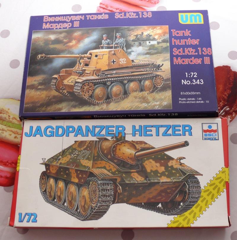 Hetzer ESCI et Marder III UM au 1/72 P1130819
