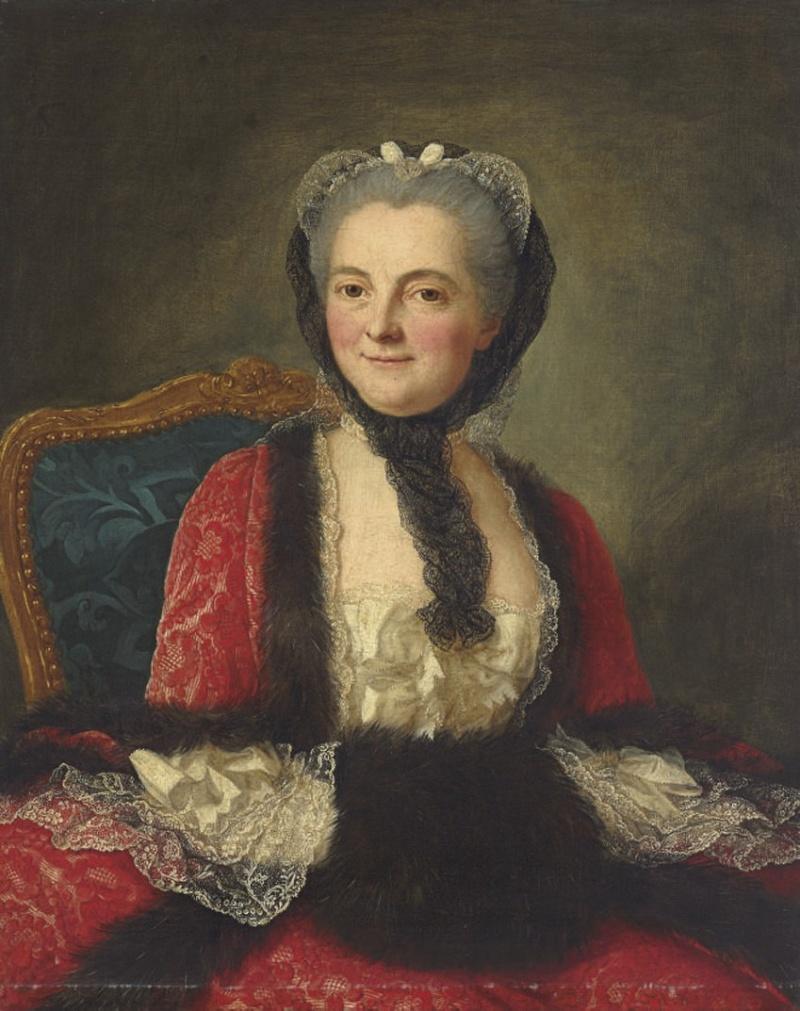 Galerie de portraits : Le manchon au XVIIIe siècle  Marian10