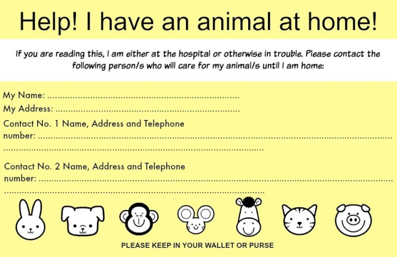 carte imprimée  en cas d urgence 12244010