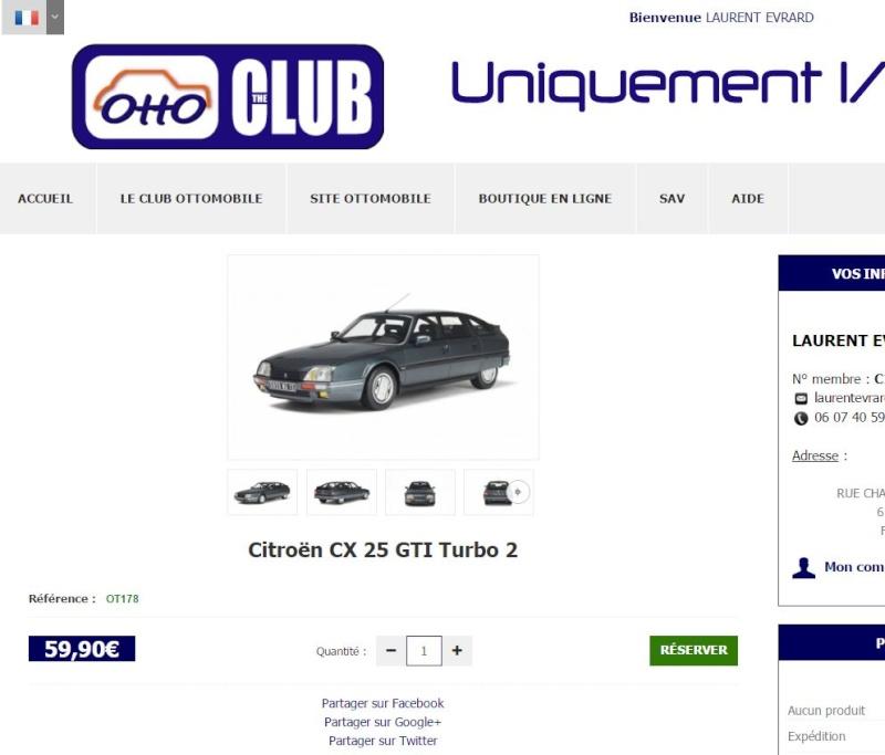 [Miniature] Citroën CX GTI Turbo Série 2 OTTOMOBILE Captur20