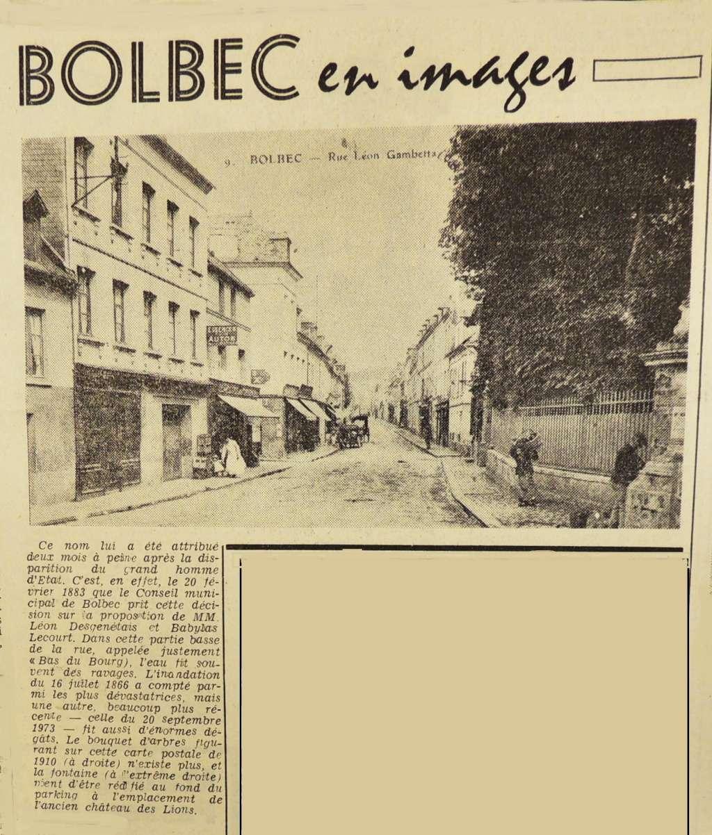 bolbec - Bolbec - Bas du Bourg > Rue Léon Gambetta 1975-010