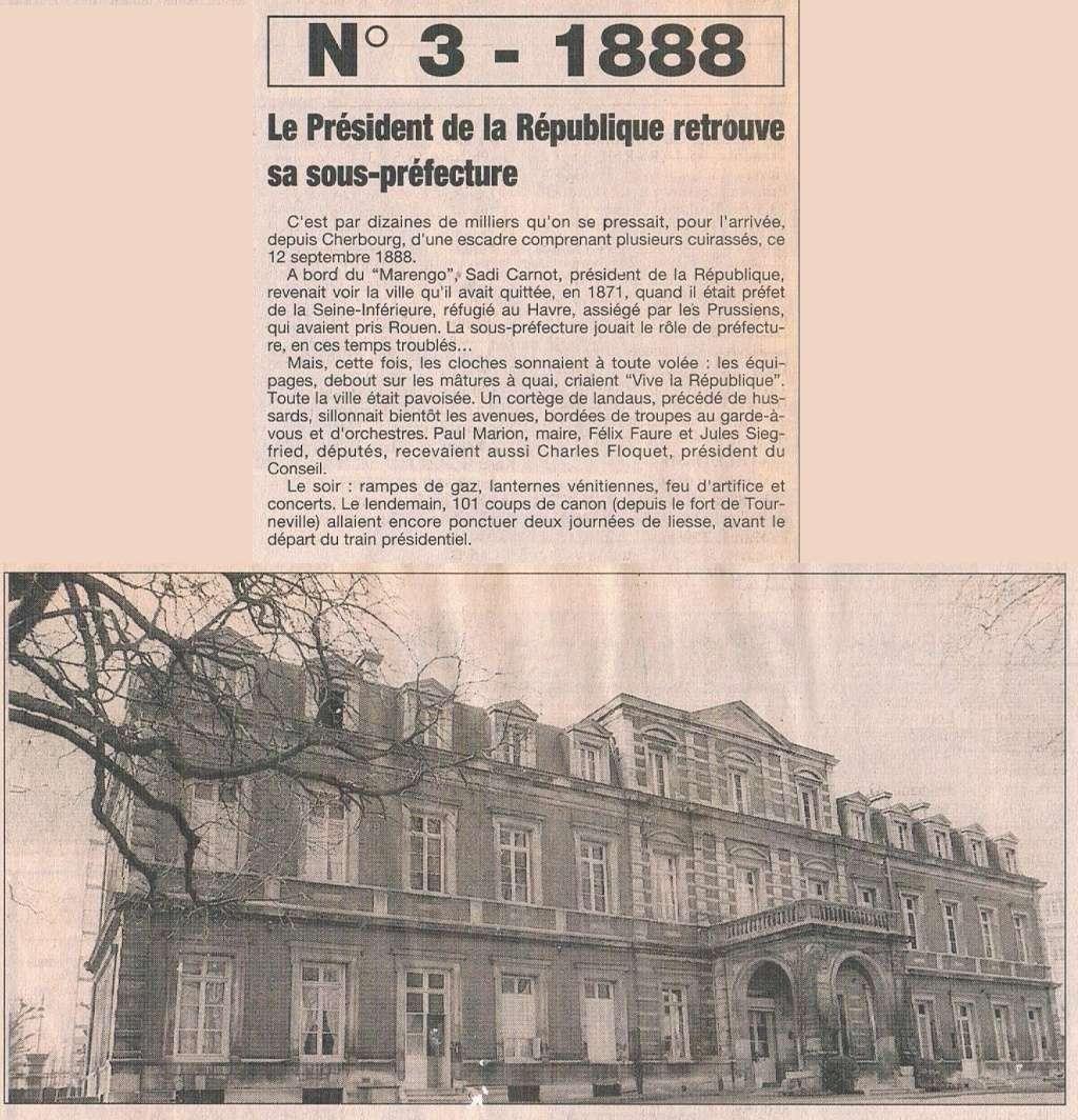 Havre - 1888 - Pdt Sadi Carnot au Havre ... 1995-024