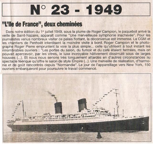 Paquebot Ile de France (2 cheminées) 1995-034