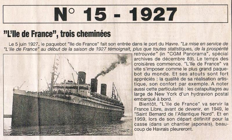 Paquebot Ile de France (3 cheminées) 1995-035