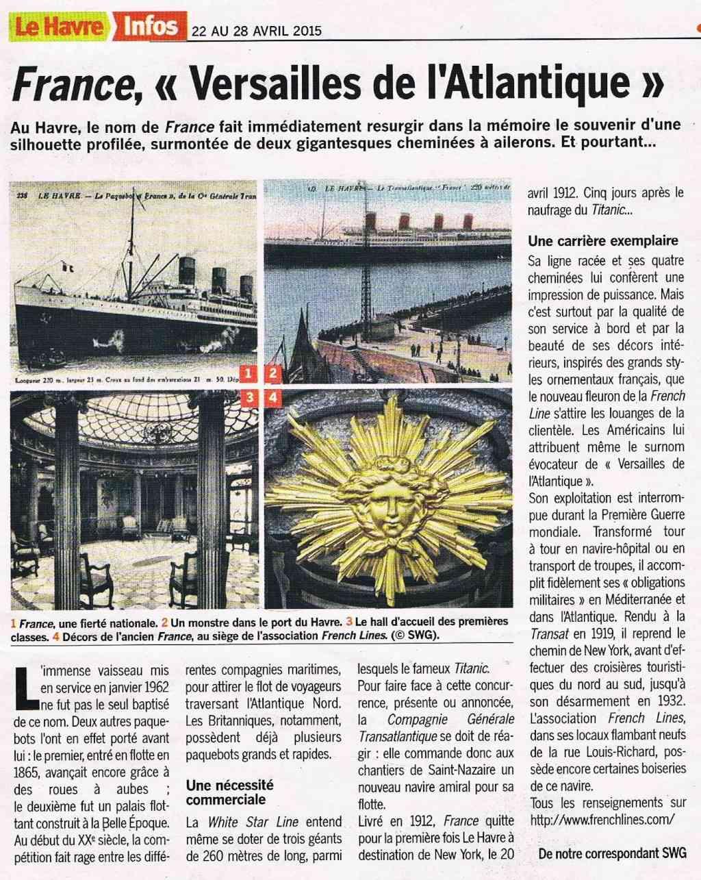 """Paquebot """" Le France"""" 1912 2015-014"""