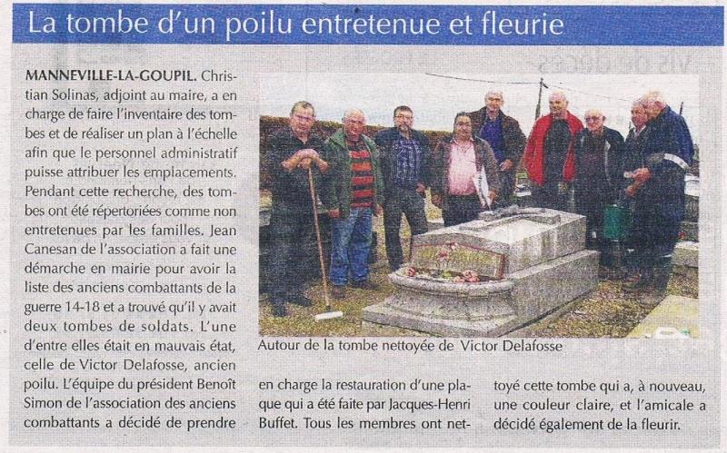 Manneville-la-Goupil - La tombe du soldat DELAFOSSE 2015-114