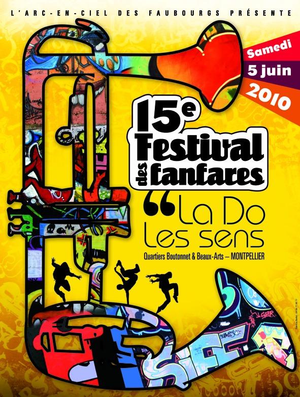 Festival des fanfares le 5 juin 2010 à Montpellier Affich15