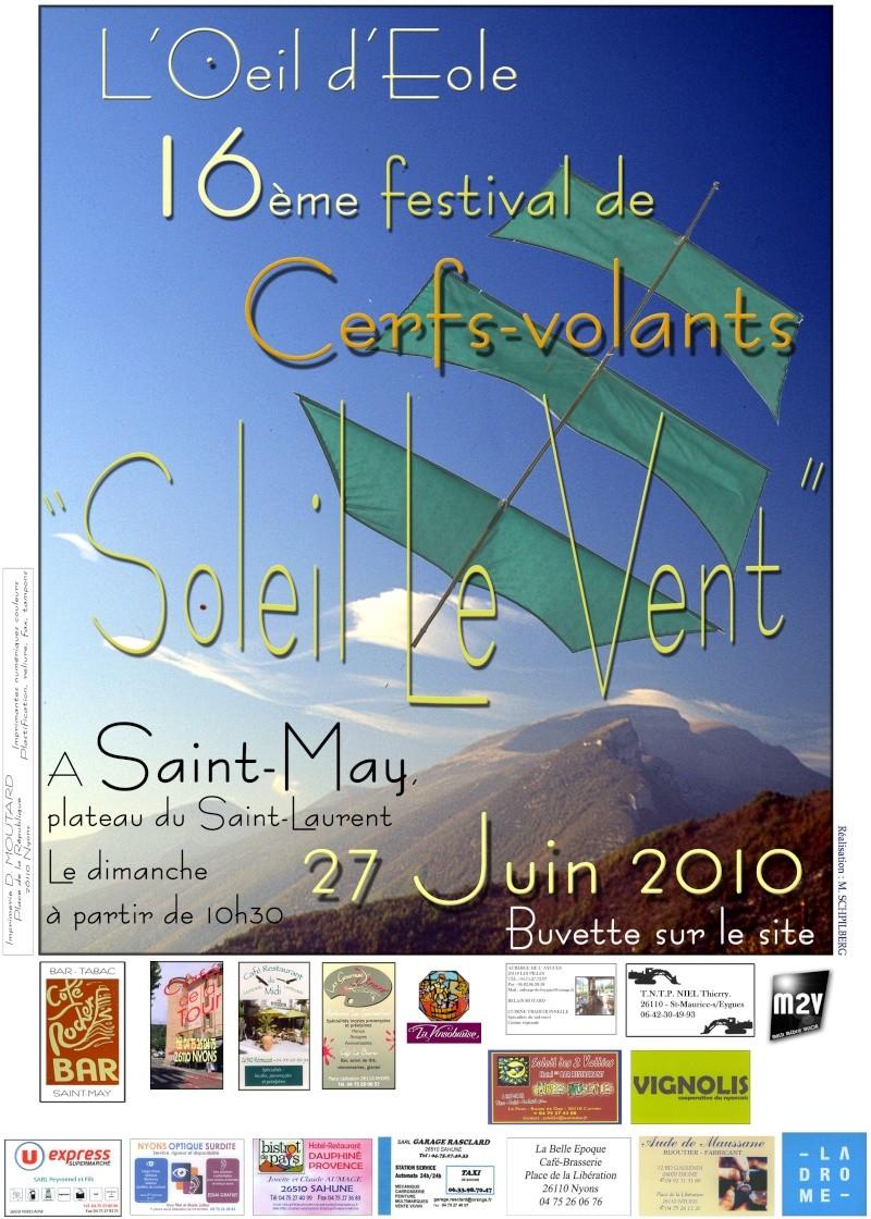 """Festival """"Soleil le vent""""  26 et 27 juin 2010 à Saint-May Affich16"""