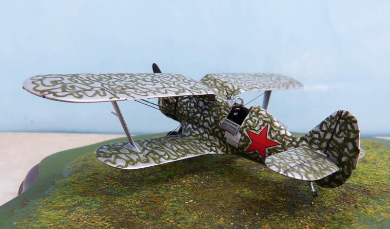 Polikarpov I153 sur le Khalkhin Gol, en Mongolie. I153_714