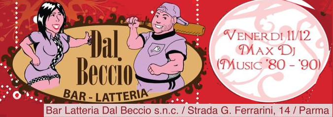 Venerdì 11 Dicembre alle ore 20:00: Max DJ@ Beccio Beccio10