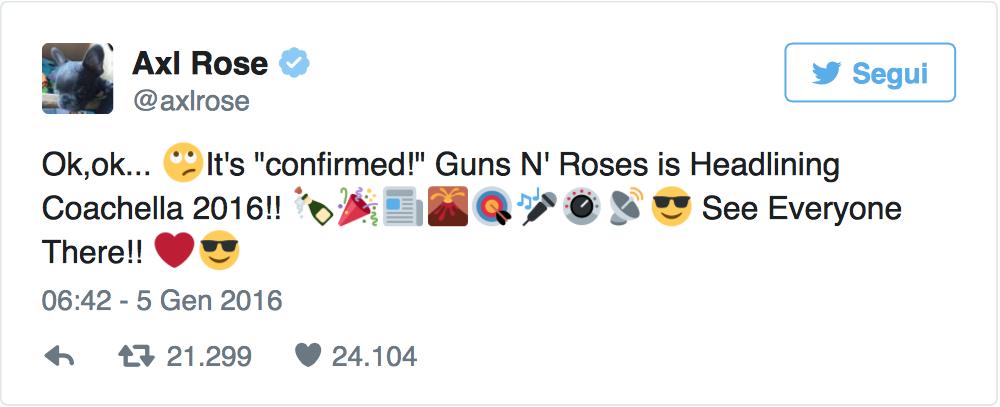 Guns N' Roses, è reunion: Axl Rose e Slash insieme dopo 20 anni Gunstw10