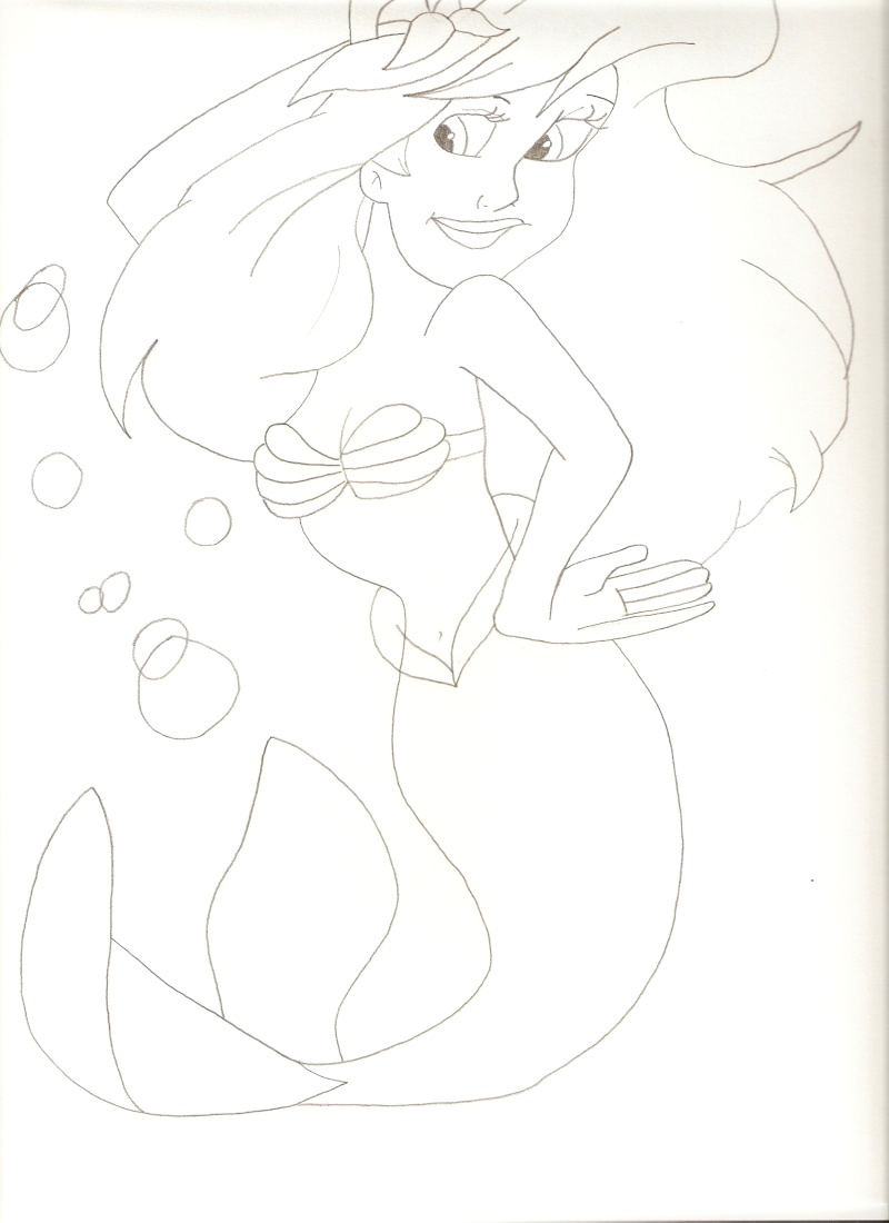 Dessins sur La Petite Sirène de Disney !! Dessin24