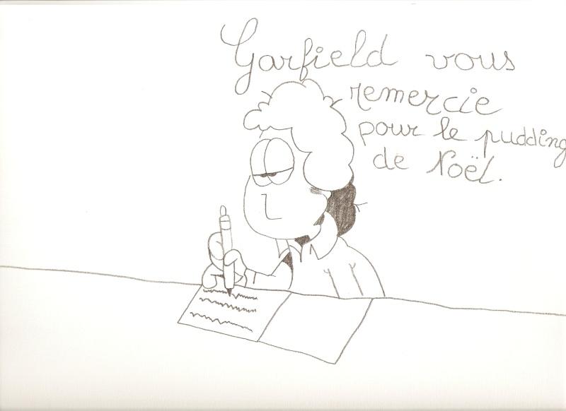 Voici mes dessins sur La Petite Sirène et Garfield Dessin80