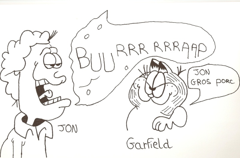 Voici mes dessins sur La Petite Sirène et Garfield Dessin88
