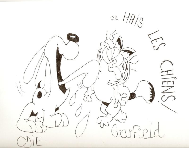 Voici mes dessins sur La Petite Sirène et Garfield Dessin90