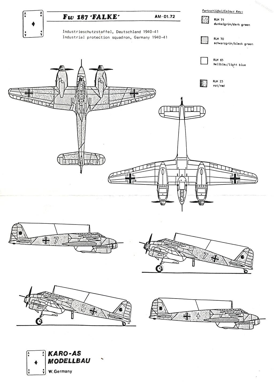 Focke-Wulf Fw 187 ''Falke'' (1:72, KARO AS & marque inconnue ?) Fw_18716