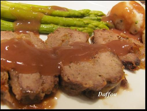 Pain de viande farci à la soupe à l'oignon et gratiné au fromage B_farc10