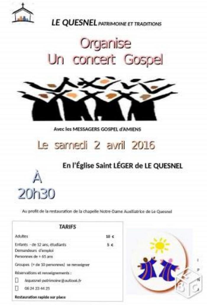 samedi 02 avril 2016 à 20h30 : concert de GOSPEL Gospel10
