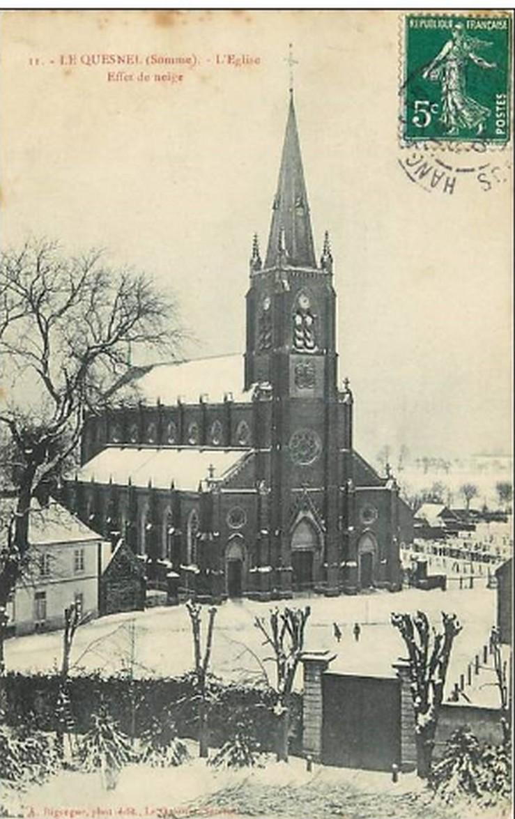 L'EGLISE de Le Quesnel : église Saint léger. Neige_10