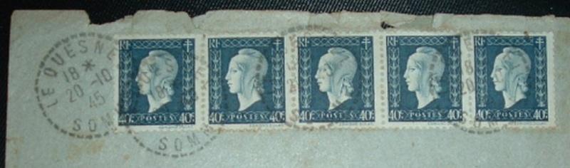 cartes postales originales de LE QUESNEL Tampon10