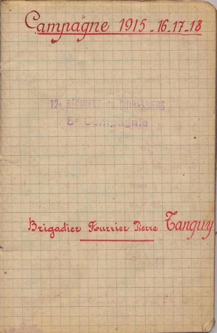 Pierre TANGUY et son carnet militaire Tanguy13