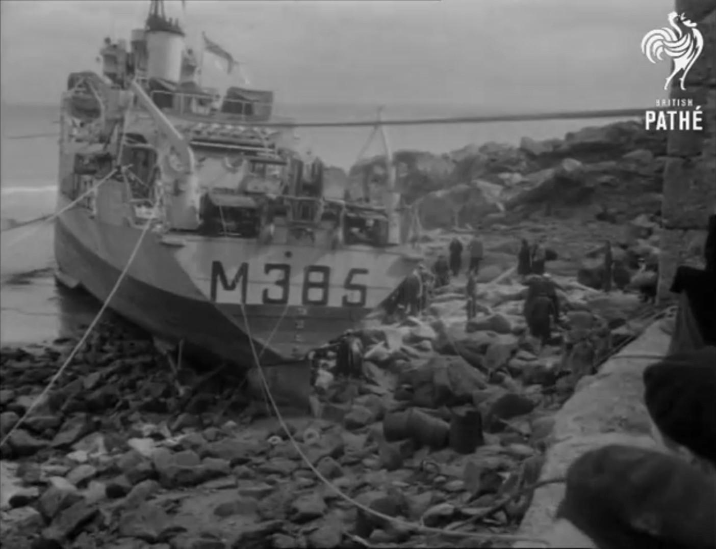 Echouage d'une Algérine britannique en 1952 ! Alger310
