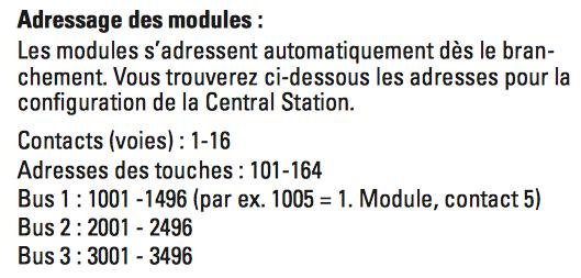 Configuration canton TC avec CS2 link S88 L88 60883 et 60881 Adr_l810