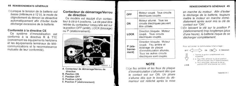manuel du propriétaire zx6r 2009 / 2010 2310