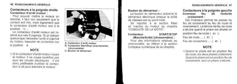 manuel du propriétaire zx6r 2009 / 2010 2410