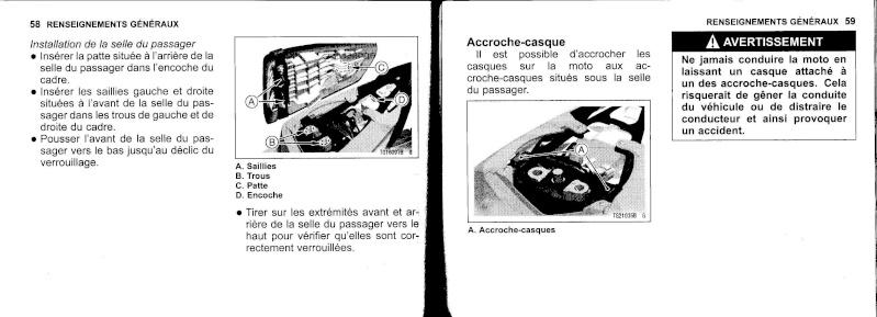 manuel du propriétaire zx6r 2009 / 2010 3010