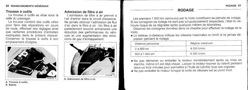 manuel du propriétaire zx6r 2009 / 2010 3110
