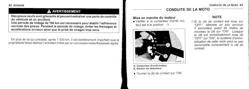 manuel du propriétaire zx6r 2009 / 2010 3210