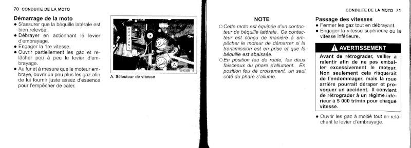 manuel du propriétaire zx6r 2009 / 2010 3610