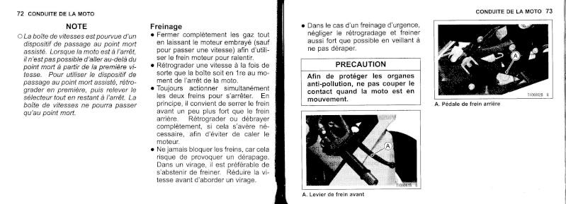 manuel du propriétaire zx6r 2009 / 2010 3710