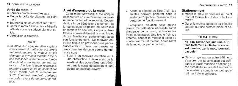 manuel du propriétaire zx6r 2009 / 2010 3810