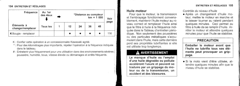 manuel du propriétaire zx6r 2009 / 2010 5310