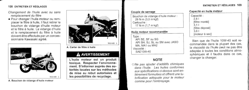 manuel du propriétaire zx6r 2009 / 2010 5510