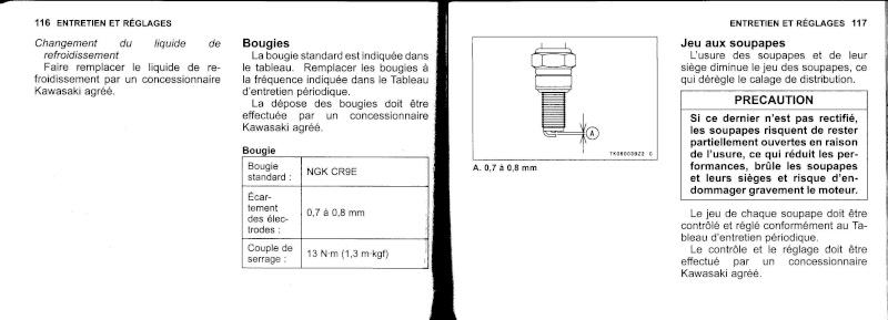 manuel du propriétaire zx6r 2009 / 2010 5910
