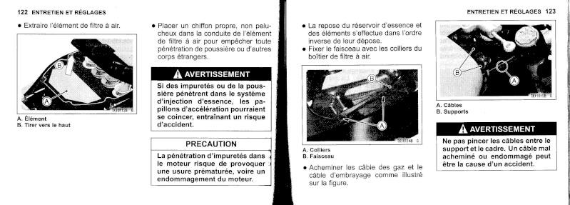 manuel du propriétaire zx6r 2009 / 2010 6210