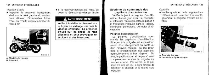 manuel du propriétaire zx6r 2009 / 2010 6310